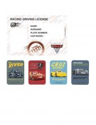 Autot 3™- kutsukortit ja tarrat 4 kpl
