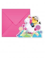 Kätyrit yksisarvinen™- kutsukortit ja kirjekuoret 6 kpl