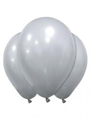 Hopeanväriset lateksiset ilmapallot 28 cm 12 kpl