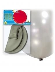 Jättimäinen hopeanvärinen ilmapallo 80 cm