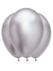 Lateksiset hopeanväriset ilmapallot 31 x 39 cm 6 kpl