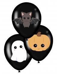Mustat lateksiset halloween-ilmapallot 28 cm