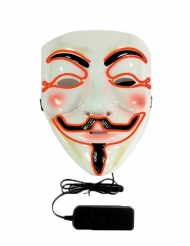 Anonymous- ryhmän LED-naamari aikuiselle
