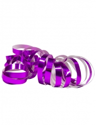 Violetit ja metallinhohtoiset serpenttinirullat 2 kpl 4 m