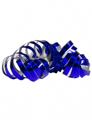 Siniset metallinhohtoiset serpentiinirullat 4 m 2 kpl