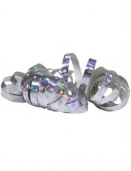 Hopeanväriset holografiset serpentinirullat 2 kpl 4 m