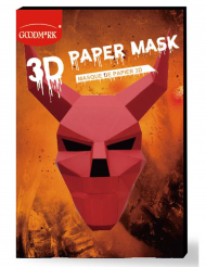 Paperinen 3D-paholaisen naamari aikuiselle