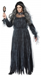 Verisen morsiammen plus-kokoinen naamiaisasu naiselle halloween