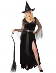 Tyylikkään noidan naamiaisasu naiselle halloween