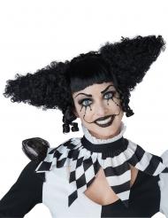 Psykopaattoklovnin musta peruukki naiselle
