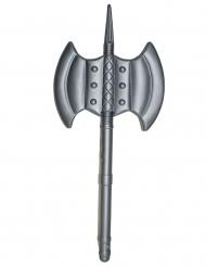 Keskiaikainen harmaa muovinen kirves 85 cm