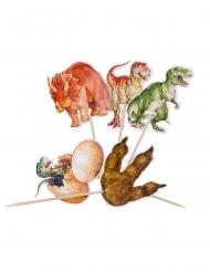 Puiset dinosauruskepit 12,5 cm 20 kpl