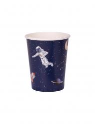 Astronautti- siniset pahvimukit 250 ml 8kpl