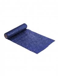 Sininen paljettikaitaliina 28 cm x 3 m