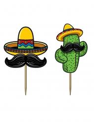 Fiesta Mexicaine- piikkikoristeet 7 cm 50 kpl