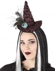 Noidan hattu- hiuspanta sinisellä ruusulla aikuiselle