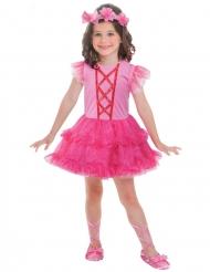 Vaaleanpunaisen balleriinan naamiaisasu tytölle