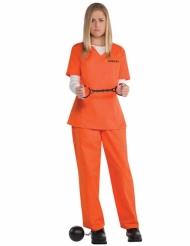 Oranssi vangin naamiaisasu naiselle