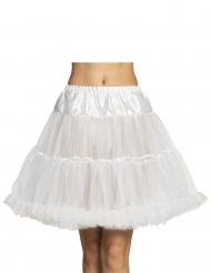 Valkoinen puolipituinen alushame naiselle