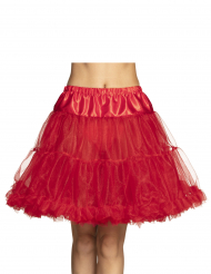 Punainen puolipituinen alushame naiselle