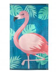 Trooppinen flamingo- kangaslippu 150x 90 cm