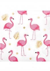 Trooppiset flamingot - paperiset servetit 33 x 33 cm 12 kpl