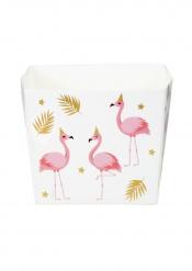 Trooppinen flamingo- pahvikupit 40 cl 6 kpl
