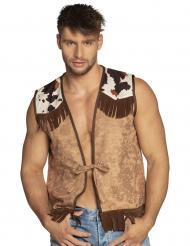 Ruskea cowboy-liivi