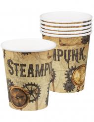 Steampunk- pahvimukit 25 cl 6 kpl