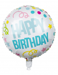 Happy Birthday- konfettipallo 45 cm
