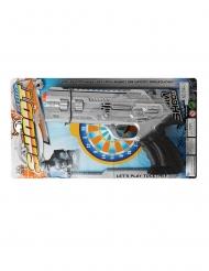 Poliisin hopeanvärinen pistooli