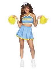 Cheerleaderin vaalensininen luksusasu naiselle