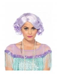 Lyhyt laventelinvärinen peruukki naiselle