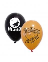 Mustat ja oranssit halloween- ilmapallot 30 cm 10 kpl