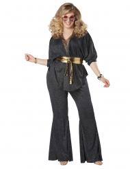 Häikäisevä plus-kokoinen discoasu naiselle