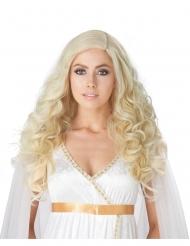 Kiharainen blondi peruukki naiselle