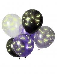 Lateksiset pimeässä hohtavat lepakkoilmapallot 30 cm 6 kpl