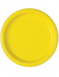 Keltaiset pahvilautaset 16 kpl 23 cm