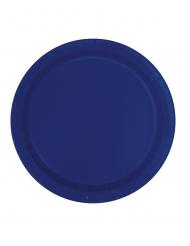 Siniset pahvilautaset 23 cm 16 kpl