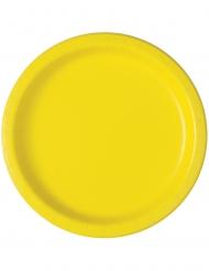 Pienet keltaiset lautaset 18 cm 20 kpl