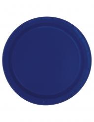 Siniset pahvilautaset 18 cm 20 kpl