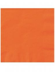 Oranssit paperiset servetit 25 x 25 cm 20 kpl