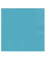 Turkoosit paperiset servetit 25 x 25 cm 20 kpl