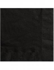Mustat paperiservetit 25 x 25 cm