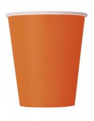 Oranssit pahvumukit 266 ml 14 kpl