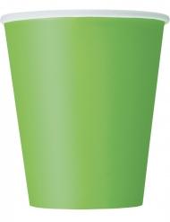 Limenvihreät pahvimukit 266ml 8 kpl
