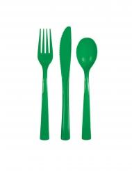 Vihreät kertakäyttöiset ruokailuvälineet 18 kpl