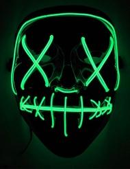 Vihreä LED- naamari aikuiselle