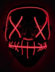 Punainen LED-naamari aikuiselle