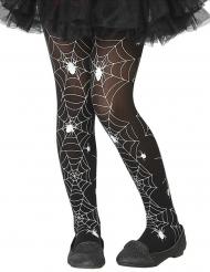 Mustavalkoiset hämähäkinseitti sukkahousut lapselle